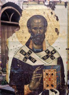 Retro Christmas Tree, Prim Christmas, Father Christmas, Christmas Trees, Paint Icon, Russian Icons, Byzantine Icons, Art Thou, Saint Nicholas