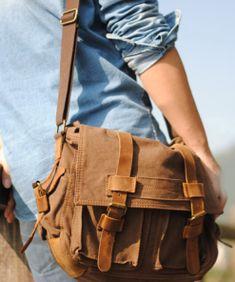 Cool Messenger Bag Mens Shoulder Bag - Rucksack Bag Cool Messenger Bags, Canvas Messenger Bag, Rucksack Bag, Satchel, Backpacks, Shoulder Bag, Pocket, Cool Stuff, Leather