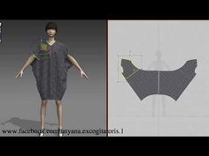 Clothing patterns - Общие схемы выкроек - YouTube Sewing Patterns Free, Sewing Tutorials, Clothing Patterns, Free Pattern, Drape Dress Pattern, Corset Pattern, Fashion Design Software, Cocoon Dress, Geometric Fashion