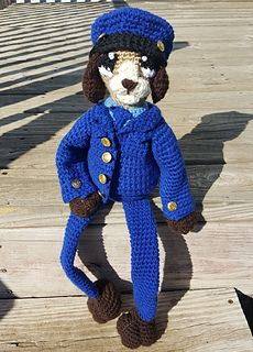 Patrol Puppy pattern by Ashley Collings Knit Crochet, My Design, Teddy Bear, Puppies, Knitting, Pattern, How To Make, Animals, Easy