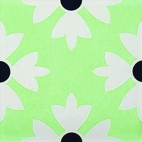 Accessori piastrelle resistenza al calore, motivo floreale verde pavimento di piastrelle-ERG217