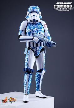 Okay, so Hot Toys' latest Stormtrooper toy isn't actually made out of porcelain—that would almost be as ridiculous as Star Wars branded printer paper. But it is covered in the traditional blue-and-white designs found on porcelain. None of that explains why it exists though, because this sure is weird.