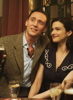 Tom Hiddleston as Freddie Page and Rachel Weisz as Hester Collyer in The Deep Blue Sea (2011).