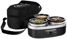 Crock-Pot SCRMTD307-DK 16-Ounce Little Triple Dipper, Silver and Black