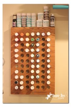 how to make a craft paint wall organizer...I'm so making this!!