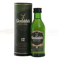 Glenfiddich 12 year old Single Malt Scotch Whisky Miniature - £2.95
