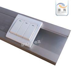 国标100*50铝合金方线槽面板线槽超大墙壁线槽办公室医院商场线槽-淘宝网