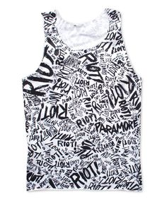 PARAPARAPARA!!!!Riot Paramore Tank Top Screening Both Side by StudioMFshop on Etsy, $17.99