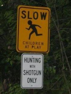 Interesting sign placement!