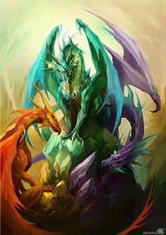 В этой галерее с драконами содержатся красивые фэнтези картинки с драконами. А также рисунки, наброски и коллажи с драконами.