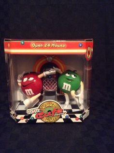 NIB M & M Candy Red Green Rock N Roll Cafe Jukebox Dispenser Chocolate #MM