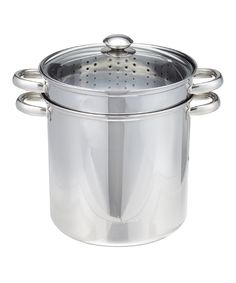 Another great find on #zulily! Excelsteel 12-Qt. Stainless Steel Covered Cooker Pot Set by Excelsteel #zulilyfinds