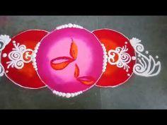 YouTube Rangoli Borders, Rangoli Border Designs, Beautiful Rangoli Designs, Rangoli Designs Latest, Rangoli Designs Diwali, Diya Rangoli, Easy Rangoli, Sanskar Bharti Rangoli Designs, Special Rangoli