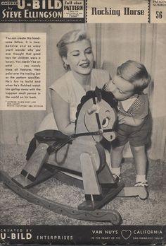 vintage rocking horse 60's pattern chippy - Google Search