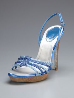 Love my new shoes!! Crystal Embellished Rope Slingback by Rene Caovilla on Gilt.com