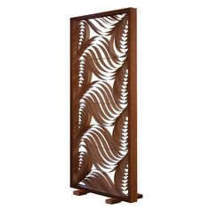 "LZF 80.7"" x 36.8"" Paisley Screen 1 Panel Room Divider Base/Border Finish: Cherry, Interior Finish: Chocolate"