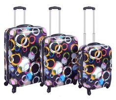 Jetset in style with this hard-shell suitcase, perfect for weekend ...
