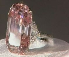 A beautiful pink diamond valued at $10.8 million A diamond in an amazing and rare color, weighing five carats is considered to be in the top position. It was auctioned in Honk Kong for a record and substantial amount of $10.8 million U.S. Dollars.