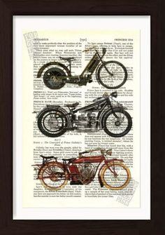 by Pat Byrne Page is approx. x No two prints will ever be the same, the actual page you will receive may be different than that shown in the listing, but it will come from the same antique book. It comes with a black paper mount, so fits into an size […] How To Age Paper, Old Motorcycles, Hanging Wall Art, Wall Hangings, Rare Birds, Irish Art, Old Book Pages, Photo Craft, Antique Books