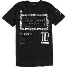 Twenty One Pilots Palm Frame T-Shirt Hot Topic ($17) ❤ liked on Polyvore featuring tops and t-shirts