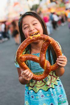 From turkey legs to pretzels, all food is giant-sized at LACF. La County Fair, Orange County Fair, State Fair Food, Carnival Food, Turkey Legs, Country Fair, Fun Fair, Summer Memories, Carnival