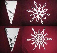 Вырезаем красивые снежинки
