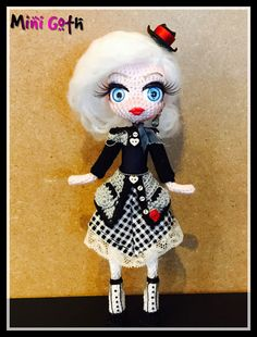 Mary GOTH MINI Collection Fully done hand crochet by Ladycotonbyme