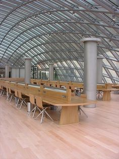 Futuristic library at the University of Chicago.