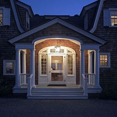 stunning entry to a dutch colonial by Lewin Wertheimer - but would be so amazing as a very small house of its own!!