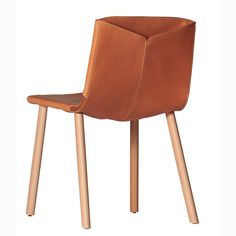 Ply side chair designed by Mario Ruiz for Capdell Suit Covers, Simple Shapes, Chair Design, Side Chairs, Mario, Armchair, Wood, Leather, Furniture