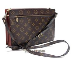 Authentic LOUIS VUITTON Vintage Monogram Sac Enghien Pochette Bag, Very RARE!  I sold mine years ago and wish I didn't.  Looking to buy again at an affordable price.