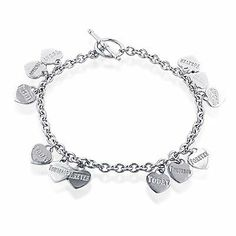 "Sterling Silver Today, Tomorrow, Forever Charm Bracelet Netaya. $59.95. Sterling Silver. ""Today"" ""Tomorrow"" ""Forever"". Charm Bracelet"