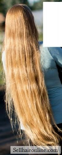 25″ of Beautiful Thick Straight Strawberry Blonde hair to sell | sellhaironline.com