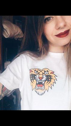 | Handmade • tshirt • traditional • tattoo • tiger • #tattoo #handmade #tshirt #tiger #traditionaltattoo #traditional #tradicional