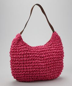 Take a look at this Fuchsia Loop Shoulder Bag by Straw Studios on #zulily today!