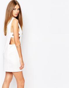 Image 2 ofMissguided Eyelet DetailShift Dress