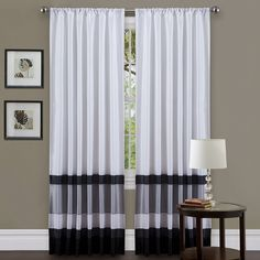 Lush Decor offers the stylish Iman Window Curtains which work great in any room. Transform your space today with the traditional look of the Iman Window Curtains, available for purchase online! Drapery Panels, Window Panels, Window Coverings, Drapes Curtains, Window Treatments, Valance, Stripe Curtains, Apartment Curtains, Patterned Curtains