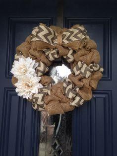 Custom burlap wreath by GunnyandGrove on Etsy