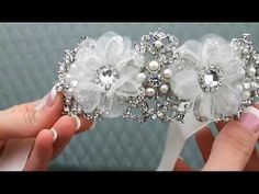 Dramatic Ribbon Headband Bridal Tiara by Hair Comes the Bride - YouTube