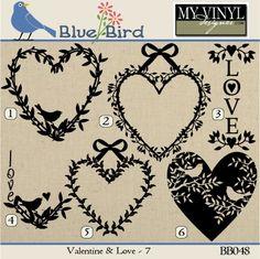 DIGITAL DOWNLOAD ... Valentine vectors in AI, EPS, GSD, & SVG formats @ My Vinyl Designer #myvinyldesigner #bluebird