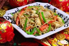 Long Life Noodles with Chicken on Weelicious