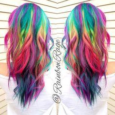 #hair #longhair #rainbowhair #brighthair #myfantasyhair #myfantasyhairextensions #coloredhair #colorfulextensions #rainbowextensions http://www.myfantasyhair.com