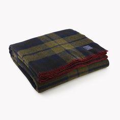 Foot Soldier Military Wool Blanket - Shadow Plaid - $215 Faribault Woolen Mill