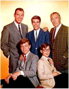 Fred MacMurray as 'Steve Douglas', Don Grady as 'Robbie', William Demarest as 'Uncle Charley', Stanley Livingston as 'Chip' & Barry Livingston as 'Ernie' in My Three Sons (1960-65, ABC; 1965-72, CBS)