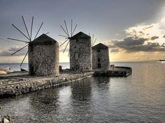 Chios: the most amazing, yet least-known Greek island of them all? Chios, Crystal Clear Water, In Ancient Times, Pebble Beach, Greek Islands, World Heritage Sites, Landscape, Amazing, Windmills