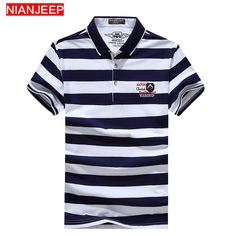 70dda9a73bc NIANJEEP Brand  Summer  High  Quality New  Men  Fashion  Striped  POLO   Shirts Breathable Male Cotton  Casual  Short  Sleeve Polo Shirt