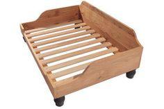 Marco de la cama del perro de madera en roble inglés
