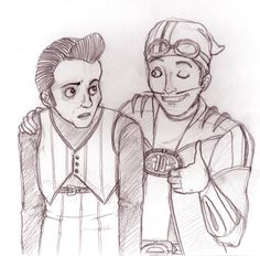 robbie and sportacus by tehbubblesofneo