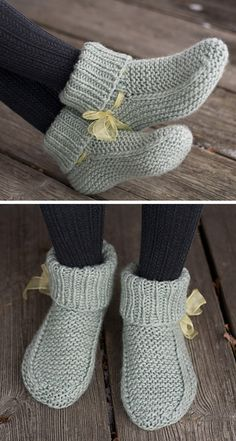 Amazing Knitting provides a directory of free knitting patterns, tips, and tricks for knitters. Knitted Socks Free Pattern, Baby Booties Knitting Pattern, Crochet Slipper Pattern, Knitted Booties, Easy Knitting Patterns, Knitted Slippers, Knitting Socks, Free Knitting, Knit Crochet