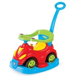 Dolu 10035308 - 4 in 1 Schaukelrutscher Smile Car, 81 x 43 x 75 cm - Spielzeugtester. Smile Car, Baby Ride On, Shops, Physical Development, 4 In 1, Toys Shop, Toy Sale, Tricycle, Childcare